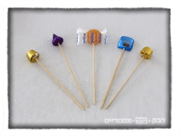 skewers with candies