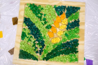 wheat tissue paper art 2