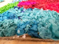 tissue paper art blue 2