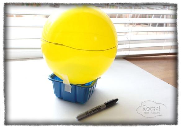 paper mache fruit basket balloon