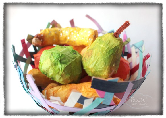 paper mache fruit basket1