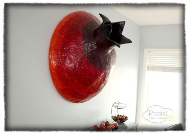 big pomegranate - wall hanging