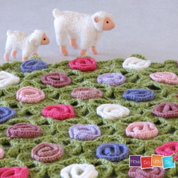 baby blanket crochet pattern flowers