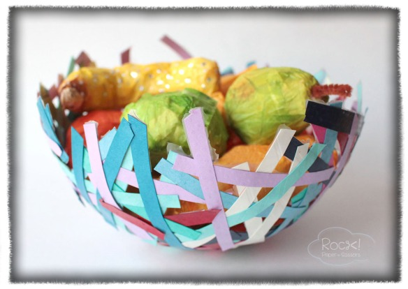 paper mache fruit basket3