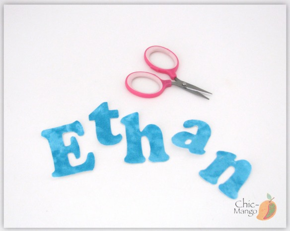 ethan cutting letters